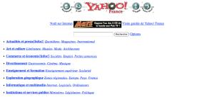 Page d'accueil Yahoo ! France, 26 décembre 1996