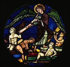Vitrail de la Résurrection des morts, Sainte-Chapelle, Paris