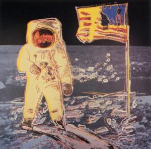 Moonwalk - Andy Warhol, 1987 (d'après une photo de Buzz Aldrin)