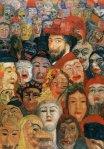James Ensor, Ensor aux masques ou Ensor entouré de masques, 1899